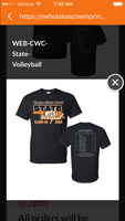 State Volleyball Shirt Order