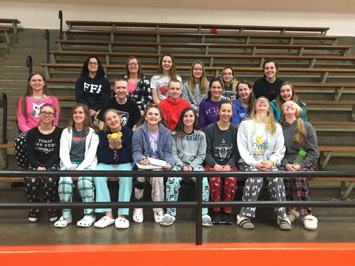 Pajama day for FFA week
