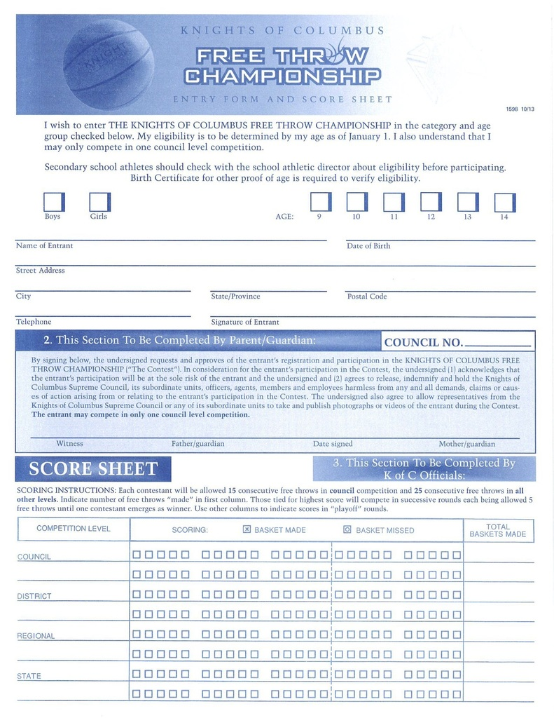KC Entry Form